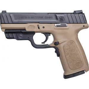 Smith & Wesson SD9 FDE Crimson Trace Laserguard RED Laser 9mm Full-Sized 16-Round Pistol